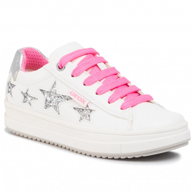 Sneakers GEOX - J Rebecca G. B J02BDB 000BC C0563 M White/Fuchsia