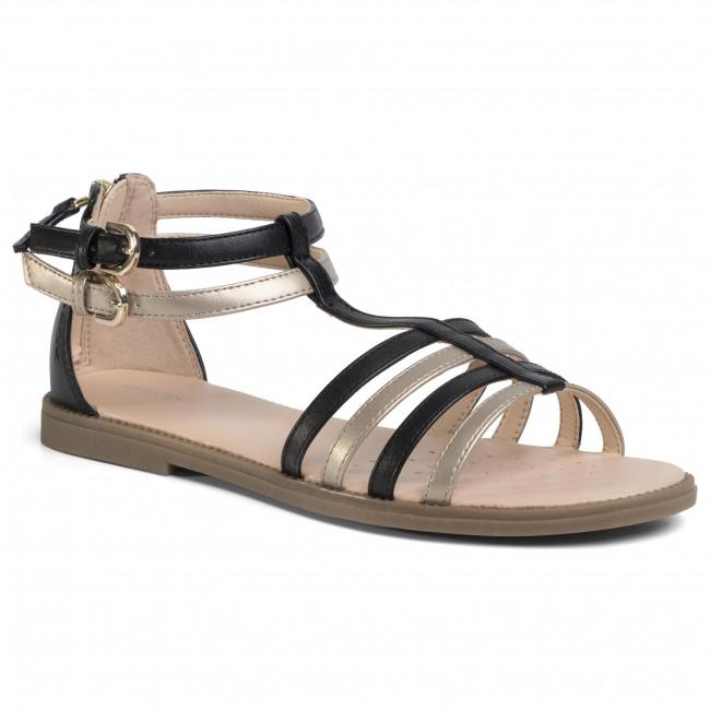 Sandals GEOX - J S.Karly G. D J7235D 054AJ C0531 S Black/Platinum
