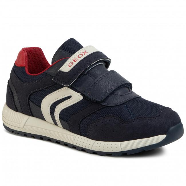Sneakers GEOX - J Alben B. C J949EC 014AF C0735 S Navy/Red