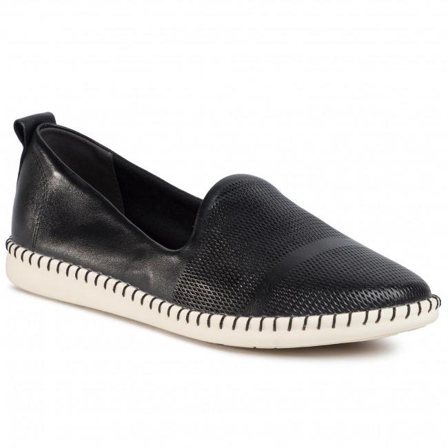 Tamaris Moccasins Black Casual Look Womens Size de 39 Shoes