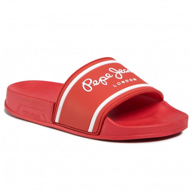 Slides PEPE JEANS - Slider Logo Boys PBS70034 Red 255