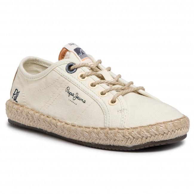 Espadrilles Pepe Jeans Tourist Island Girl Pgs10170 Ecru 814 Unisex Efootwear Eu