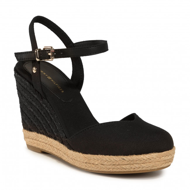 Espadrilles TOMMY HILFIGER - Basic Closed Toe High Wedge FW0FW04786 Black BDS