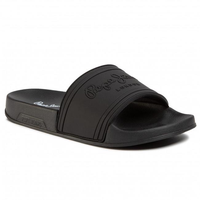 Slides Pepe Jeans Slider Unisex Pls70081 Black 999 Casual Mules Mules Mules And Sandals Women S Shoes Efootwear Eu