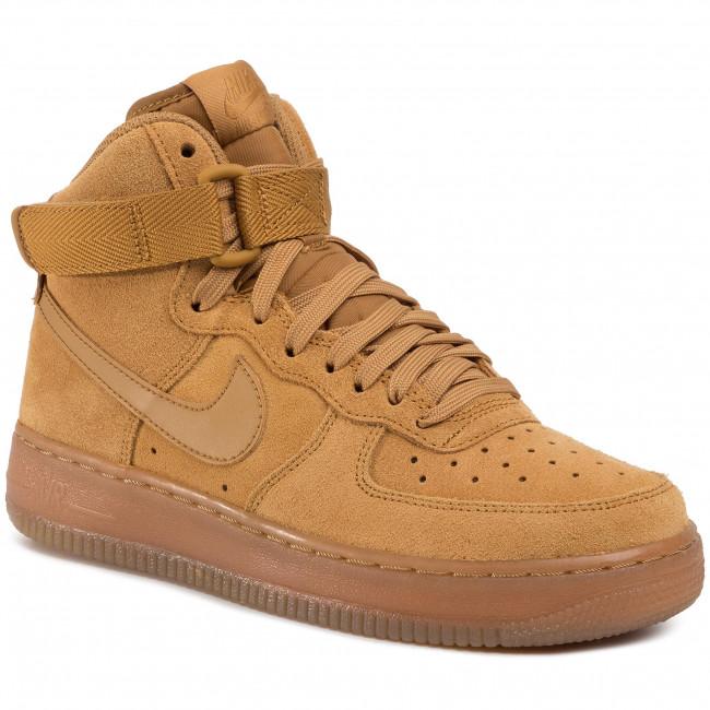 Shoes NIKE Air Force 1 High Lv 8 3 (GS) CK0262 700 WheatWheatGum Light Brown