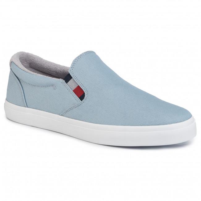 Plimsolls TOMMY HILFIGER - Essential Slip On Sneaker Denim FM0FM02686 Light Denim 1AA