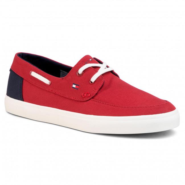 Plimsolls TOMMY HILFIGER - Seasonal Core Boat Shoe Sneaker FM0FM02760 Regatta Red XIT