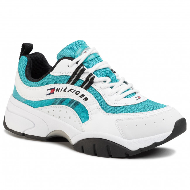 Sneakers TOMMY JEANS - Heritage Tommy Jeans Runner EM0EM00397 Exotic Teal CTX