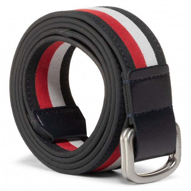 Men's Belt TOMMY HILFIGER - Urban D-Ring Intarsia Belt 3.5 AM0AM06177 CJM