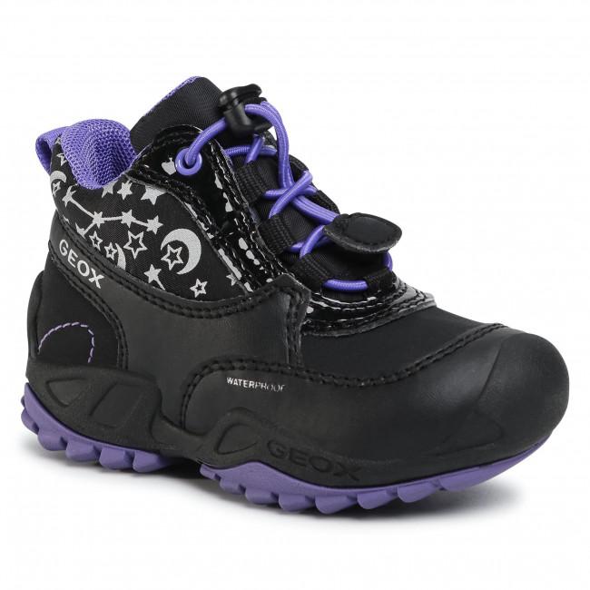Boots GEOX - J N.Savage G.Wpf A J04CCA 0HHFU C9233 M Black/Violet