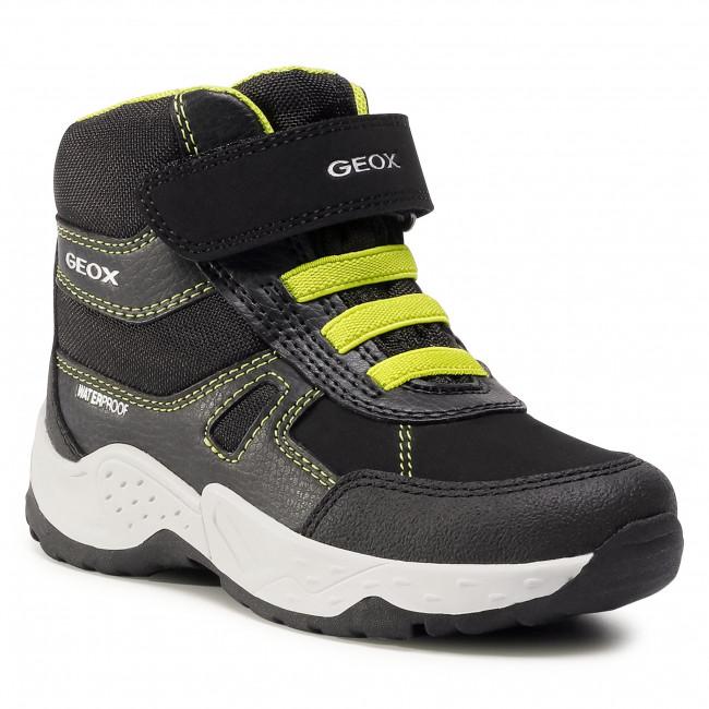 Snow Boots GEOX - J Sentiero B.Wpf A J04CEA 0FEFU C0802 M Black/Lime