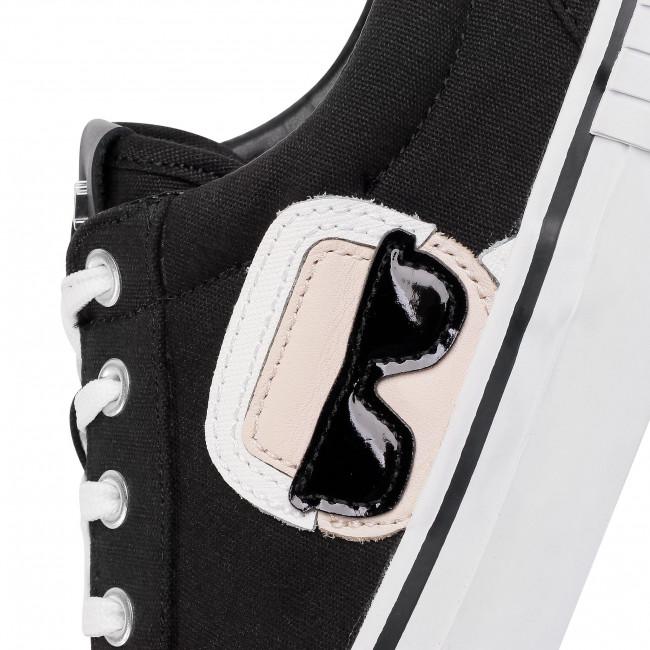 Sneakers Karl Lagerfeld - Kl50120 Black Canvas Plimsolls Low Shoes Men's