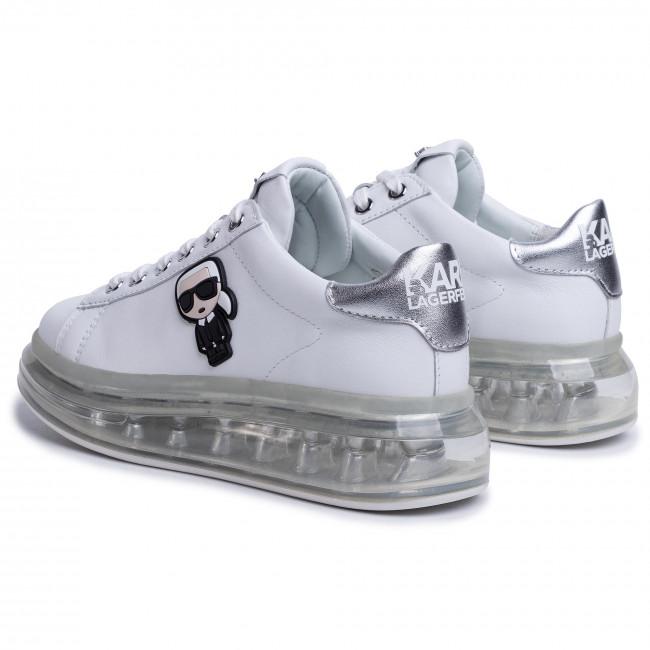 White Lthr W/Silver - Sneakers