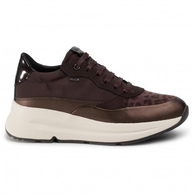 Sneakers GEOX D Backsie B Abx B D94FPB 01122 C6T6M Dk CoffeeCoffee