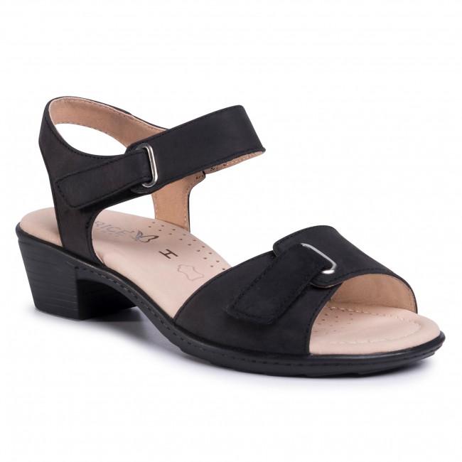 Sandals CAPRICE - 9-28252-24 Black Nubuc 008