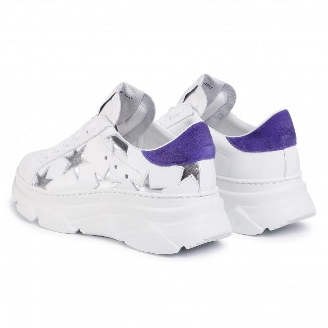 Sneakers Stokton - 352-d-ss20-up Vitello Bianco/kansas Viola Low Shoes Women's