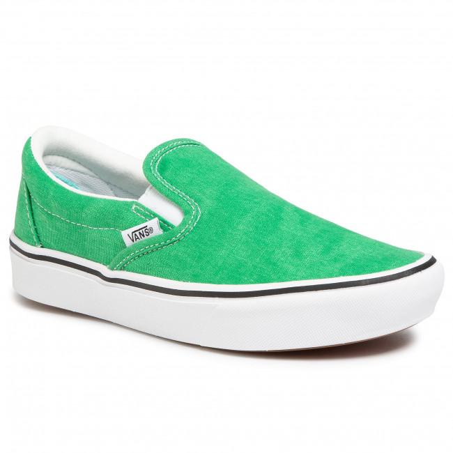 Plimsolls VANS Comfycush Slip On VN0A3WMDWYC1 (Washed Canvas)Fern Green