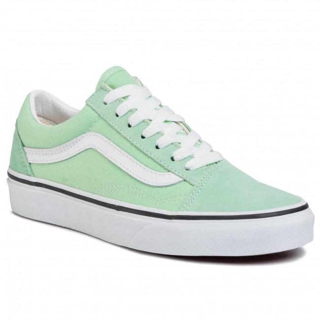 Plimsolls VANS Old Skool VN0A4U3BWKO1 Green AshTrue White