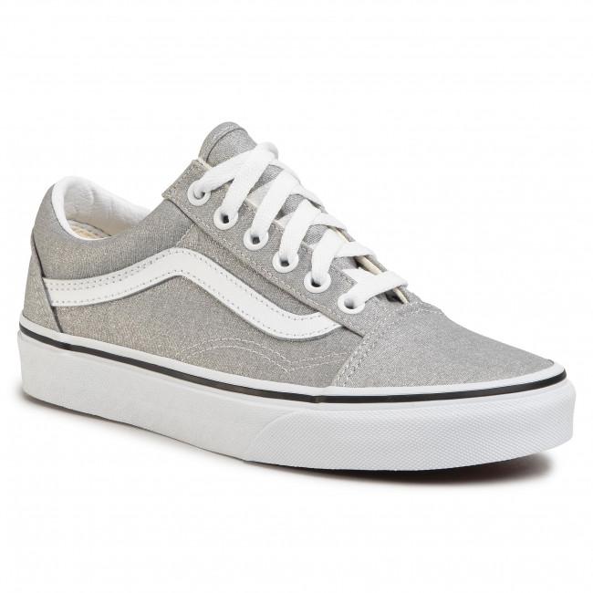 Plimsolls VANS Old Skool VN0A4U3BX1K1 SilverTrue White