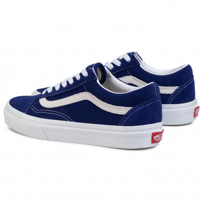 vans bleu marine daim