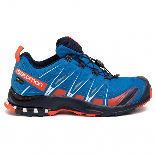 Shoes SALOMON Xa Pro 3D Gtx GORE TEX 409758 28 V0 Imperial BlueNavy BlazerCherry Tomato
