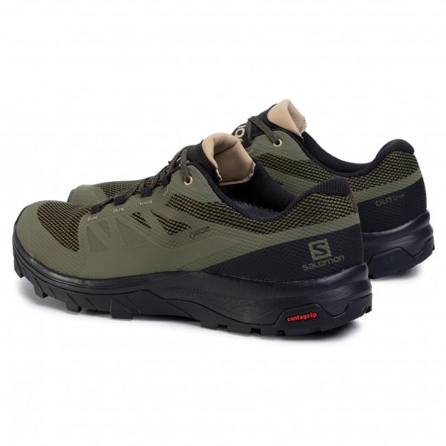 Trekker Boots SALOMON Outline Gtx GORE TEX 409968 32 M0 Burnt OliveBlackSafari