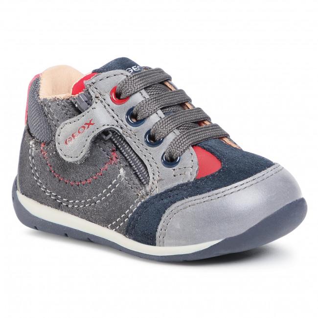 Boots GEOX - B Each B. B B040BB 022CL C0047 Dk Grey/Red