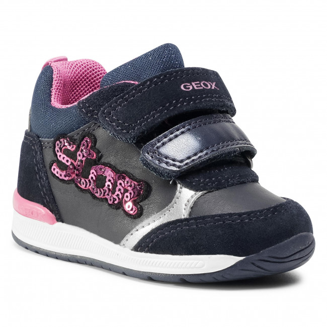 web pase a ver embotellamiento  Trainers GEOX - B Rishon G. B B040LB 08522 C4365 Black/Navy - Velcro - Low  shoes - Girl - Kids' shoes | efootwear.eu