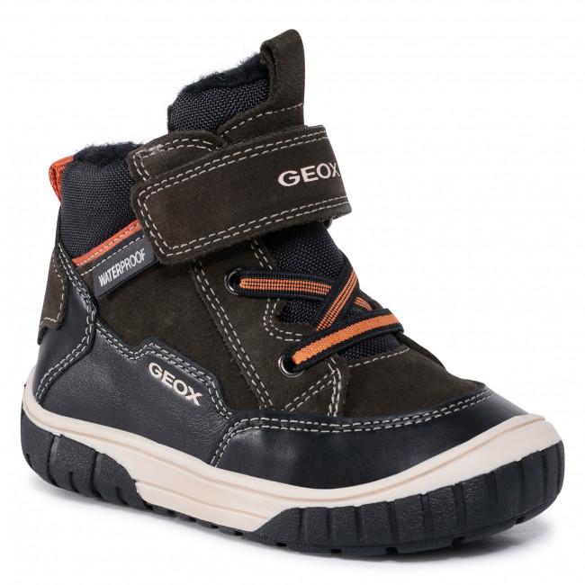 Boots GEOX - B Omar B. B042DA 02285 C0450 S Dk Green/Black