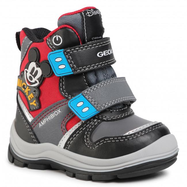 Snow Boots GEOX - B Flanfil B.B Abx C B043VC 054FU C0048 M Black/Red