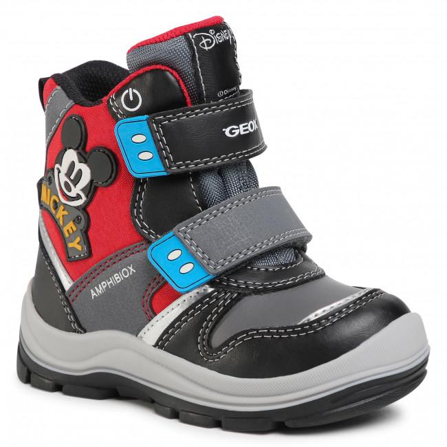 Snow Boots GEOX - B Flanfil B.B Abx C B043VC 054FU C0048 S Black/Red