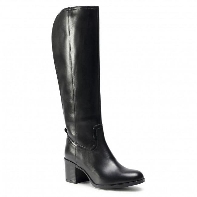 Knee High Boots GEOX - D New Ashell D D04FSD 00043 C9999 Black