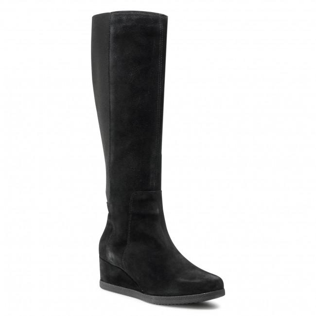 Knee High Boots GEOX - D Anylla Wedge I D04LDI 00022 C9999 Black