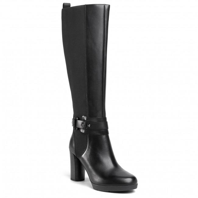 Knee High Boots GEOX - D Anylla H. E D04LME 00043 C9999  Black