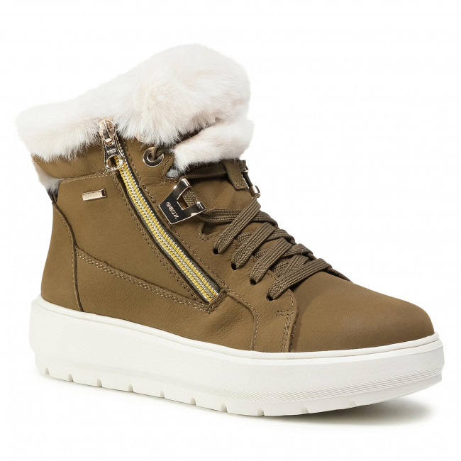 Ankle boots GEOX - D Kaula B Abx D D84AWD 076BH C3053 Olive/Off White