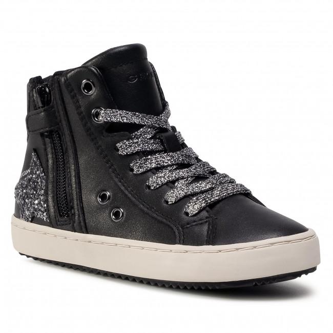 Boots GEOX - J044GA 000BC C9244 S Black/Dk Silver