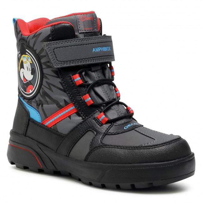 Snow Boots GEOX -  J Sveggen B.B Abx A J047UA 0FUFE C0047 D Dk Grey/Red