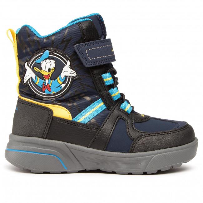 Snow Boots GEOX - J Sveggen B.B Abx A J047UA 0FUFE C0657 M Navy/Yellow