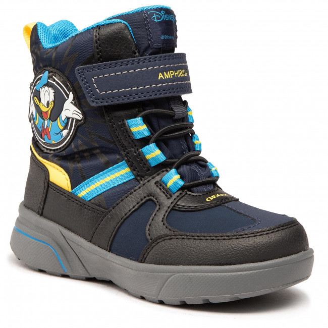 Snow Boots GEOX - J Sveggen B.B Abx A J047UA 0FUFE C0657 S Navy/Yellow