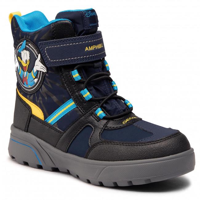 Knee High Boots GEOX - J Sveggen B.B Abx A J047UA 0FUFE C0657 D Navy/Yellow