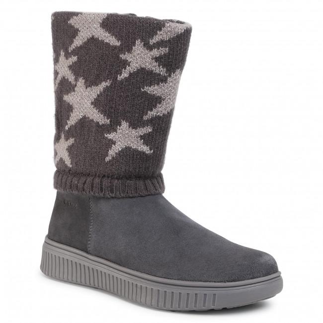 Knee High Boots GEOX - J Discomix G. C J047YC 022CP C9002 D Dk Grey