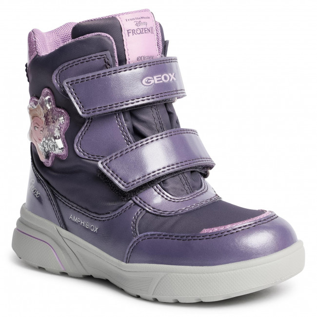 Snow Boots GEOX - J Sveggen G.B Abx A J048AA 0FUNF C8KQ8 S Dk Violet/Mauve