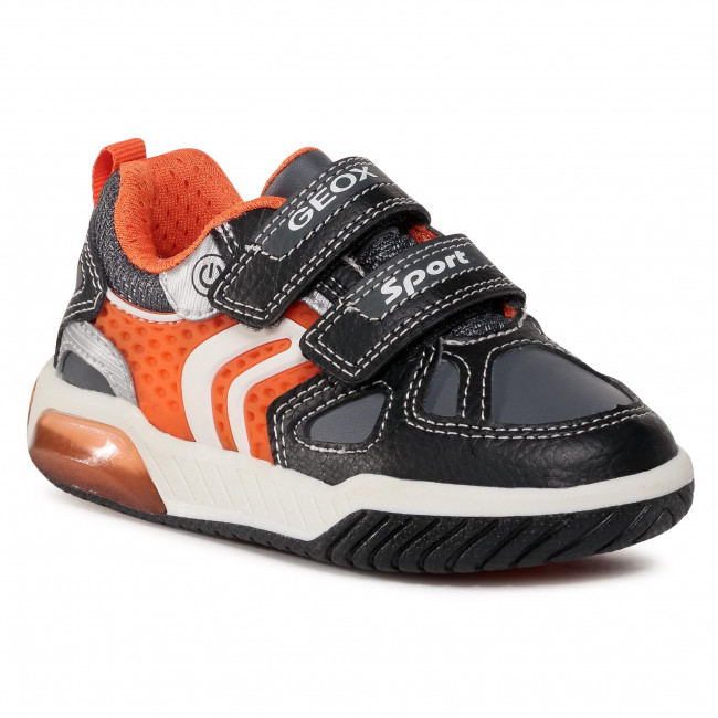 Trainers GEOX - J Inek B. B J049CB 0BU11 C0038 M Black/Orange