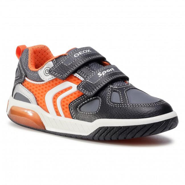 Trainers GEOX - J Inek B. B J049CB 0BU11 C0038 S Black/Orange