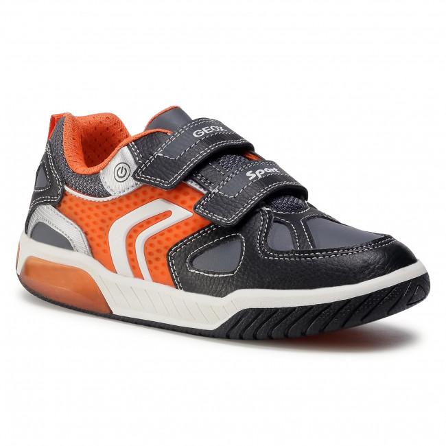 Trainers GEOX - J Inek B. B J049CB 0BU1 1C0038 D Black/Orange