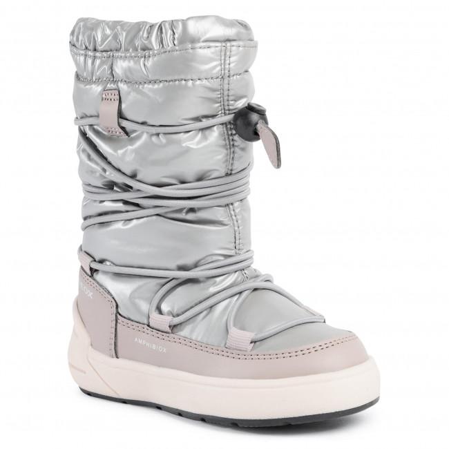 Snow Boots GEOX - J Sleigh G.B Abx A J049SA 0LVBC C1222 M Silver/Beige