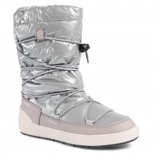 Snow Boots GEOX - J Sleigh G.B Abx A J049SA 0LVBC C1222 D Silver/Beige