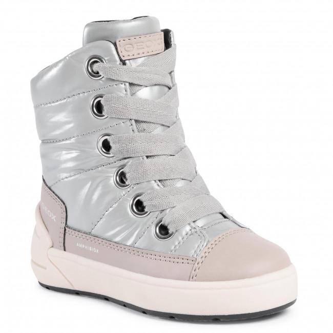 Snow Boots GEOX - J Sleigh G. B J049SB 0LVBC C1222 M Silver/Beige