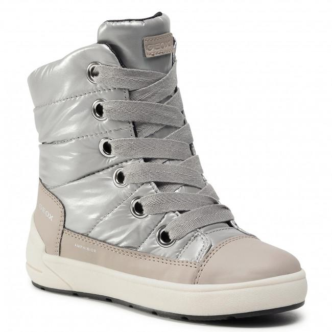 Snow Boots GEOX - J Sleigh G. B J049SB 0LVBC C1222 D Silver/Beige