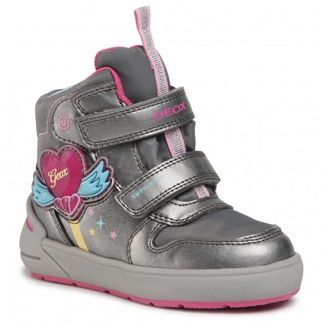Snow Boots GEOX - J Sleigh G. B Abx C J049SC 0NFFU C1A8N M Dk Silver/Fuchsia